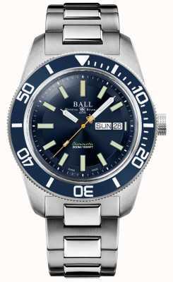 Ball Watch Company Ingénieur master ii | patrimoine skindiver | cadran bleu | bracelet en acier inoxydable DM3308A-S1C-BE
