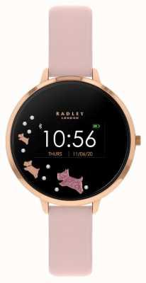 Radley Tracker d'activité Série 03 | bracelet en cuir rose RYS03-2002