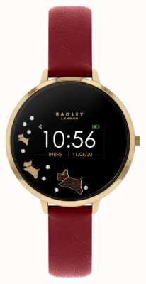 Radley Tracker d'activité Série 03 | bracelet en cuir rouge RYS03-2006