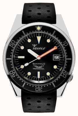 Squale 1521 classique | bracelet tropique noir | cadran noir 1521CL-CINTRB20