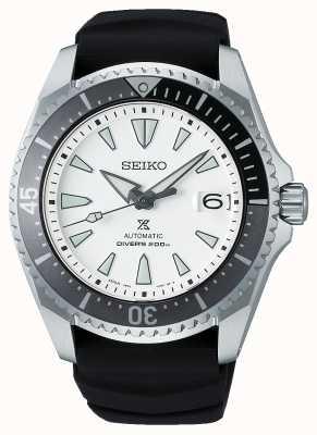 "Seiko Prospex ""shogun"" | bracelet en silicone noir | cadran blanc SPB191J1"