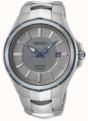 Seiko Coutura | bracelet en acier inoxydable | cadran gris / argent SNE565P9
