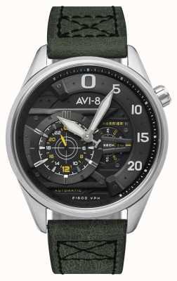 AVI-8 Hawker harrier ii - as de pique | automatique | bracelet en cuir vert AV-4070-01