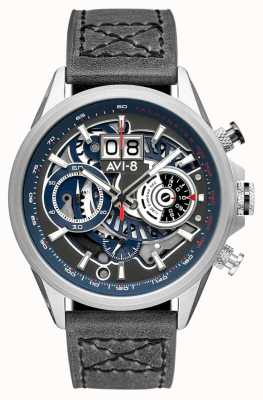 AVI-8 Hawker harrier ii | chronographe | bracelet en cuir gris AV-4065-04