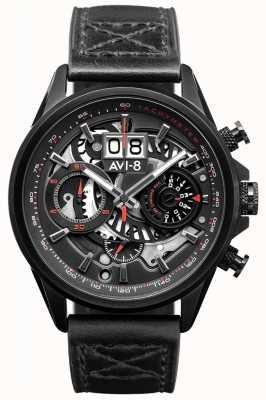 AVI-8 Hawker harrier ii | chronographe | bracelet en cuir noir AV-4065-05