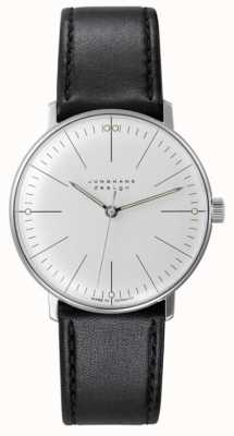 Junghans Bill Max | remontage manuel | bracelet en cuir noir | cadran argenté 027/3700.04
