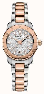 Certina Action Ds | bracelet en acier bicolore | cadran argenté C0329512203100
