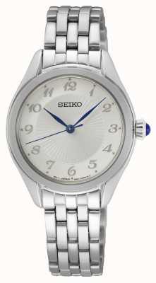 Seiko Quartz femme | bracelet en acier inoxydable | cadran argenté SUR379P1