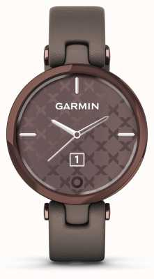 Garmin Édition classique Lily | lunette en bronze foncé | cas de paloma | bracelet en cuir italien 010-02384-B0