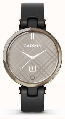 Garmin Édition classique Lily | lunette en or crème | étui noir | bracelet en cuir italien 010-02384-B1
