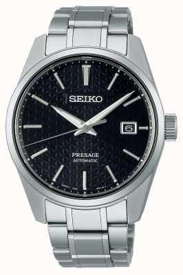 Seiko Cadran noir pour homme Presage Sharp Edge Series SPB203J1