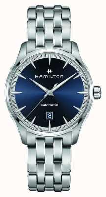 Hamilton Jazzmaster | auto | bracelet en acier inoxydable | cadran bleu H32475140