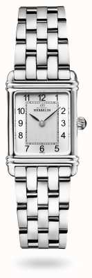 Michel Herbelin Art déco | bracelet en acier inoxydable | cadran argenté 17478/22B2