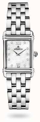 Michel Herbelin Art déco | bracelet en acier inoxydable | cadran en nacre 17478/59B2