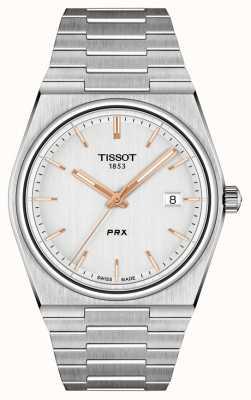 Tissot Cadran argenté quartz prx 40 mm pour homme T1374101103100