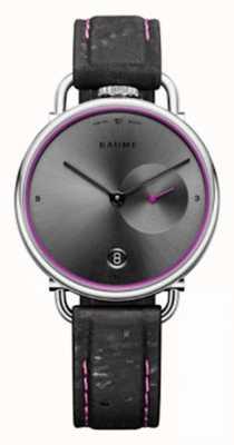 Baume & Mercier Baume | quartz écologique | cadran gris | bracelet en liège noir M0A10604