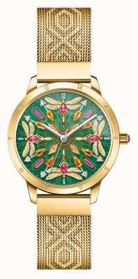 Thomas Sabo Glam & soul | bracelet en maille dorée | libellule de pierres précieuses d WA0369-264-211-33