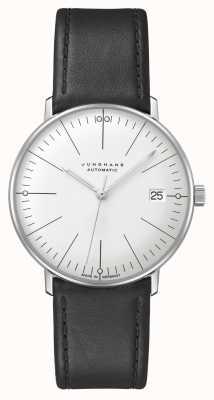 Junghans Bill Max | kleine | automatique | bracelet en cuir noir 27/4105.02
