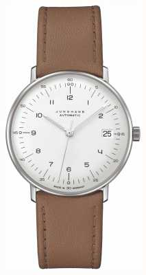 Junghans Bill Max | kleine | automatique | bracelet en cuir marron 27/4107.02