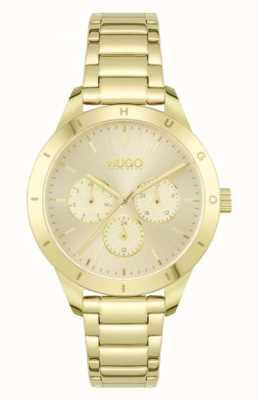 HUGO #friend | bracelet en acier plaqué or | cadran en or 1540091