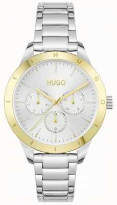 HUGO #friend | bracelet en acier inoxydable | cadran argenté 1540090