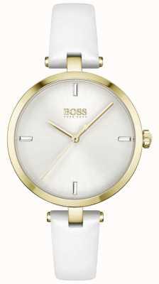 BOSS | majesté | femmes | bracelet en cuir blanc | cadran blanc | 1502588