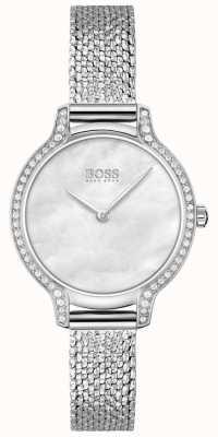 BOSS | gala | femmes | bracelet en maille d'acier inoxydable | cadran argenté | 1502558