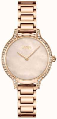 BOSS | gala | femmes | bracelet en or rose | cadran perle en or rose | 1502556
