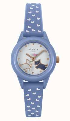 Radley Regarde ça! | bracelet en silicone bleu pour femme | cadran blanc RY21260