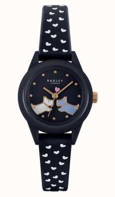 Radley Regarde ça! | bracelet en silicone bleu marine pour femme | cadran bleu marine RY21262