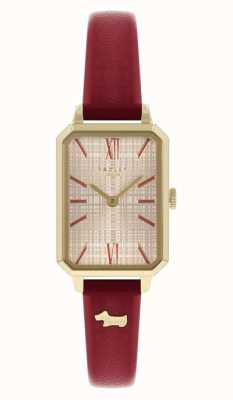 Radley Bracelet en cuir rouge pour femme | cadran champagne RY21204