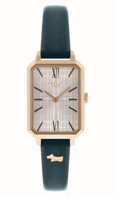 Radley | femmes | bracelet en cuir bleu marine | cadran rectangle blanc | RY21206