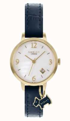 Radley | femmes | bracelet en cuir bleu marine | cadran en nacre blanche | RY21212