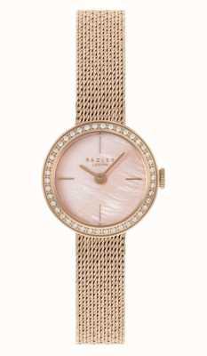 Radley | femmes | bracelet en maille plaqué or rose | cadran en nacre rose | RY4570