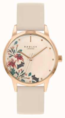 Radley Bracelet en cuir nude pour femme | cadran floral nude RY21260A