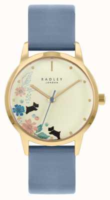 Radley Bracelet en cuir bleu pour femme | cadran champagne RY21230A