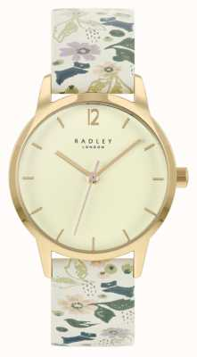 Radley Bracelet en cuir fleuri blanc pour femme | cadran champagne RY21232A
