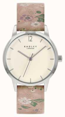 Radley Bracelet en cuir fleuri rose pour femme | cadran crème RY21231A