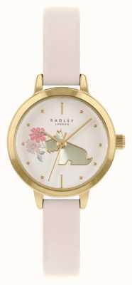 Radley Bracelet en cuir crème pour femmes | cadran à motif chien crème RY21236A