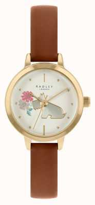 Radley Bracelet en cuir marron clair pour femme | cadran blanc RY21238A