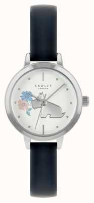 Radley Bracelet en cuir bleu pour femme | cadran blanc RY21237A