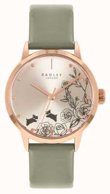 Radley Bracelet en cuir gris pour femme | cadran argenté RY21242A