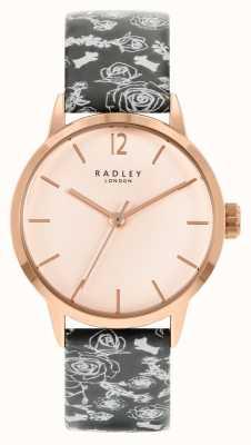 Radley Bracelet à motif noir pour femme | cadran rose RY21246A