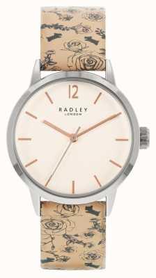 Radley | femmes | bracelet en cuir à motif beige | cadran blanc | RY21245A