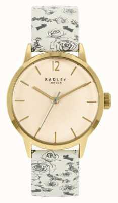 Radley Bracelet en cuir motif crème pour femmes | cadran crème RY21248A