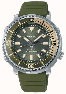 Seiko Prospex | street series mini thon édition safari | bracelet en silicone vert | SRPF83K1