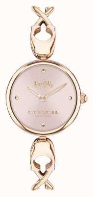 Coach Caroll | bracelet jonc femme en or rose | cadran rose 14503751