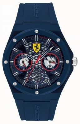 Scuderia Ferrari Aspire | bracelet en silicone bleu pour homme | cadran bleu 0830788