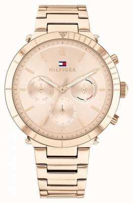 Tommy Hilfiger Emery | bracelet en acier or rose pour femme | cadran en or rose 1782347
