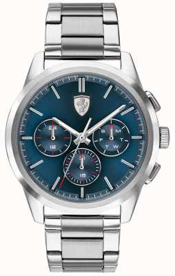 Scuderia Ferrari Grand tour | cadran bleu | bracelet en acier inoxydable 0830804